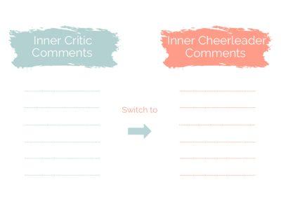 Inner Critic to Cheerleader Template