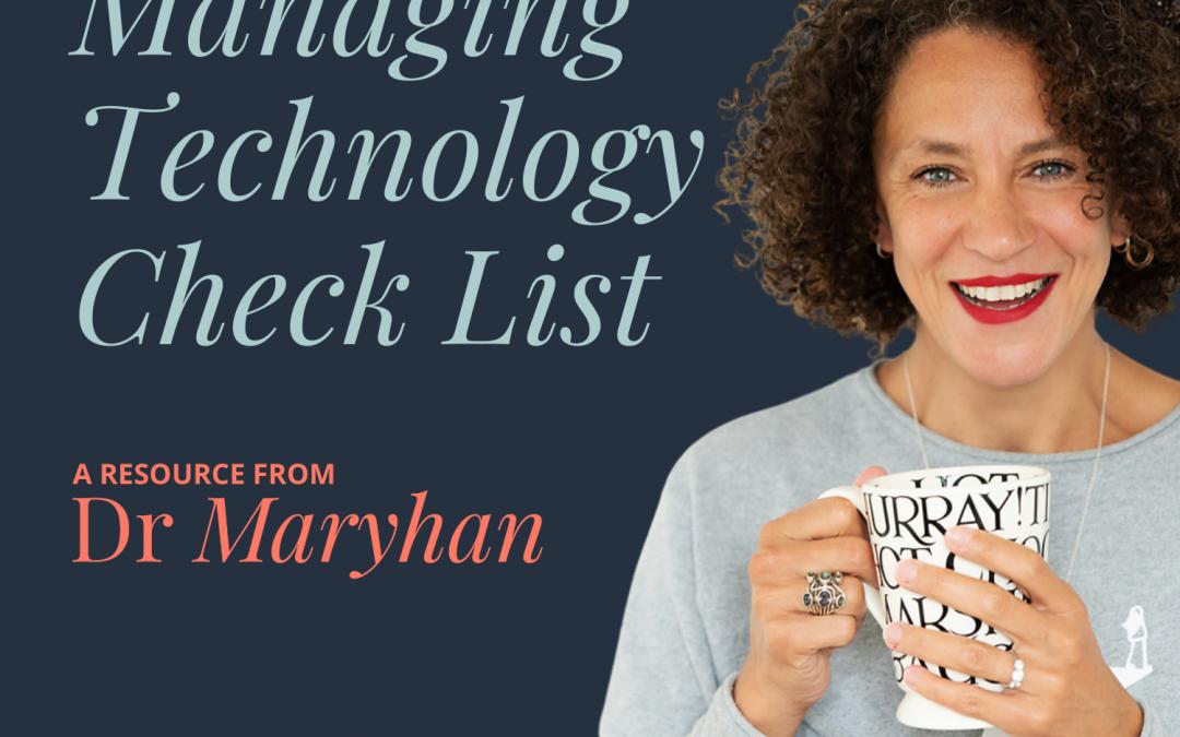 Managing Technology Checklist